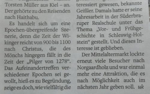 Flensburger Tageblatt 16.08.2016